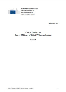 Code of Conduct on Energy Efficiency of Digital TV Service Systems
