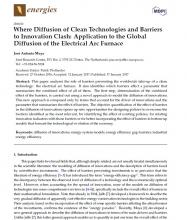 peer-reviewed paper about the global diffusion of an innovative technology and the role of barriers